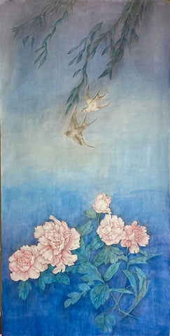 Fine Art Prints: Xanadu - Swallows - The Peony Girl