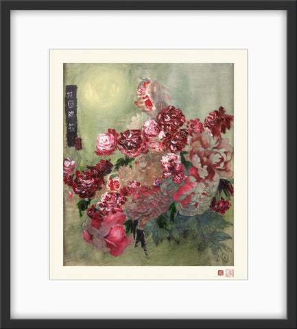 Fine Art Prints: Splendour - The Peony Girl