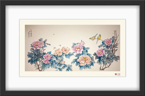 Fine Art Prints: Spring Concerto - The Peony Girl