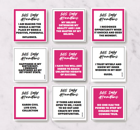 365 Daily Affirmation Cards