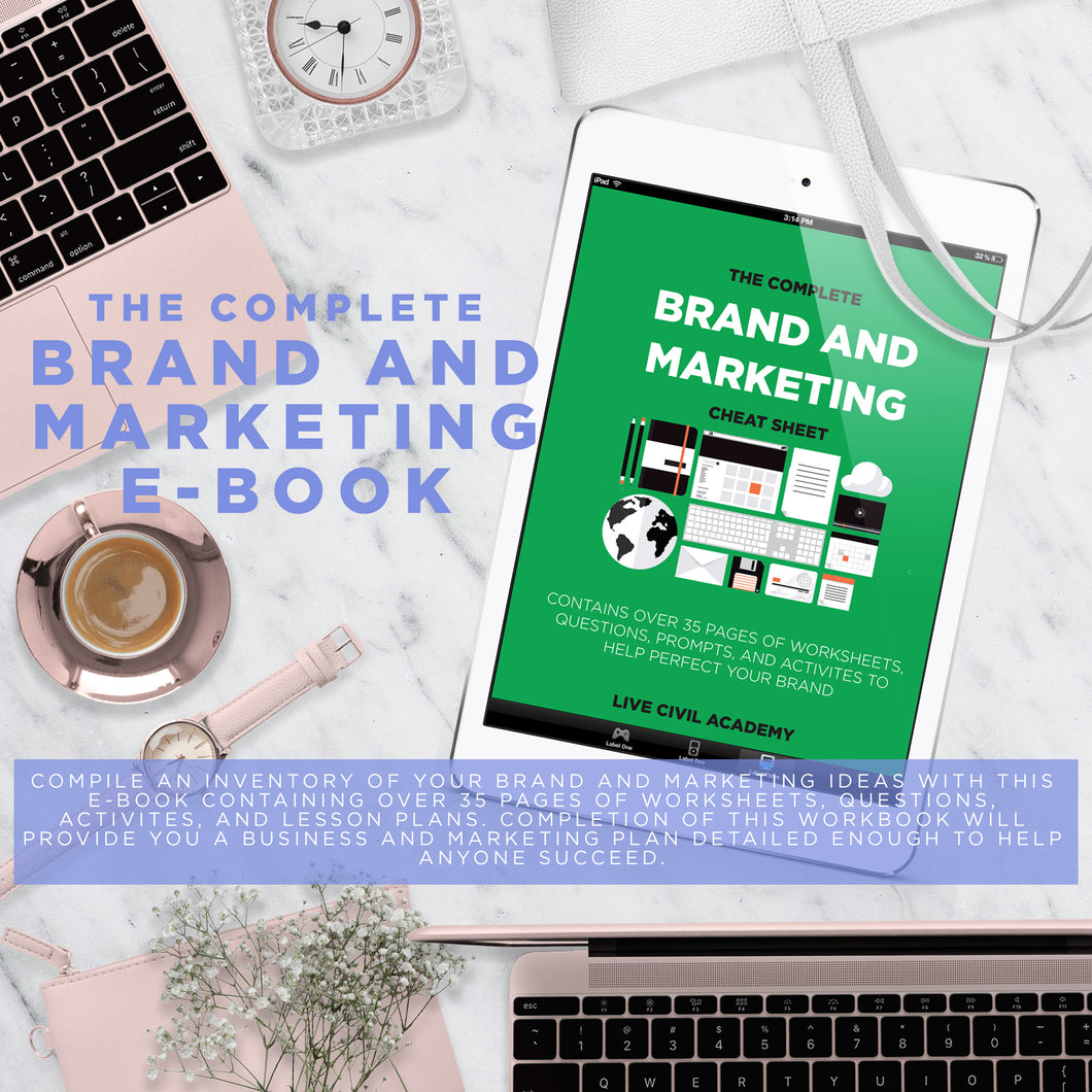 The Complete Brand And Marketing Cheat Sheet Workbook
