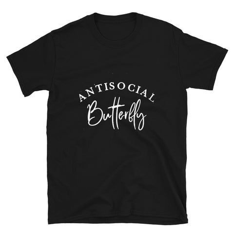 Anti Social Butterfly Short-Sleeve Unisex T-Shirt