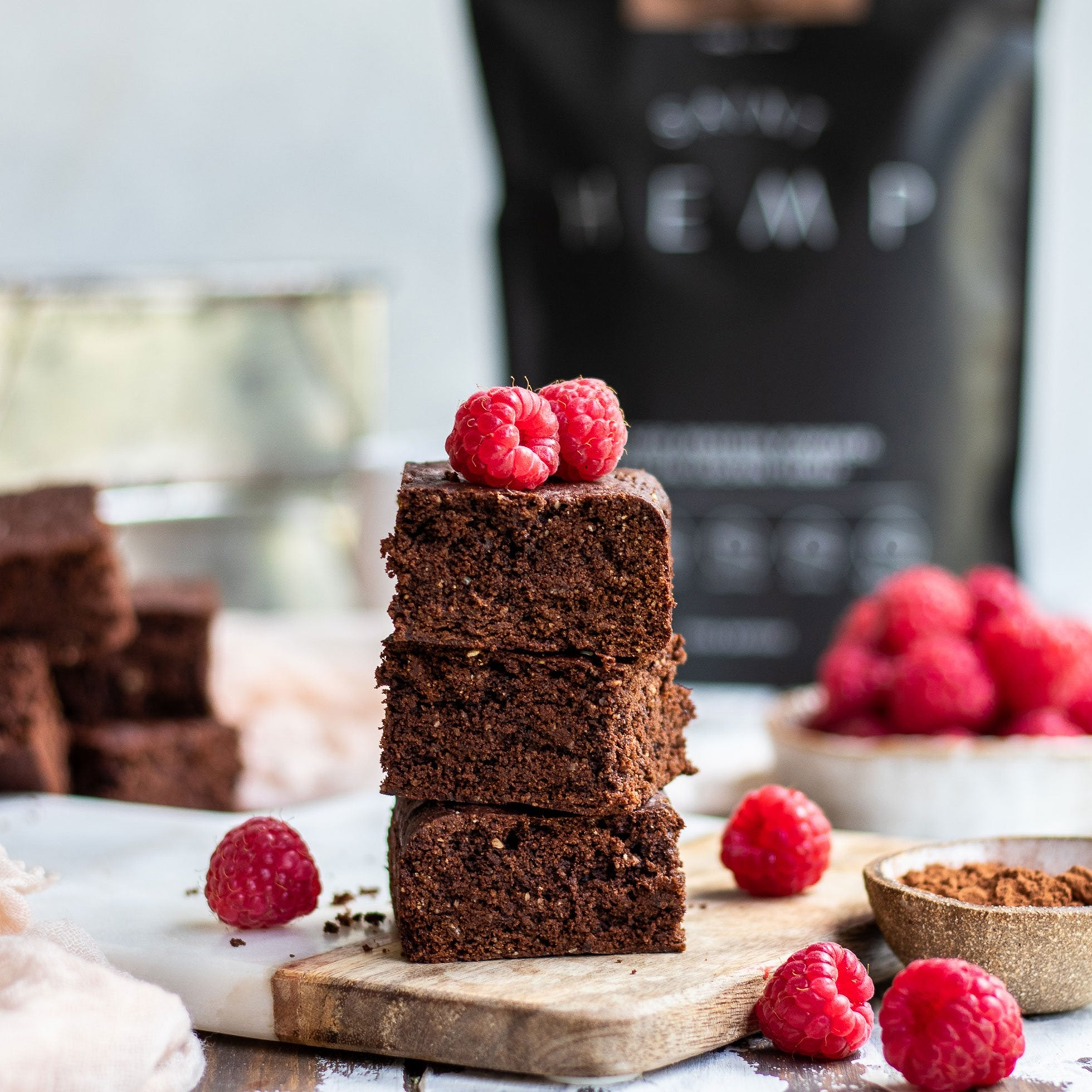 Double Chocolate Hemp Protein Brownies