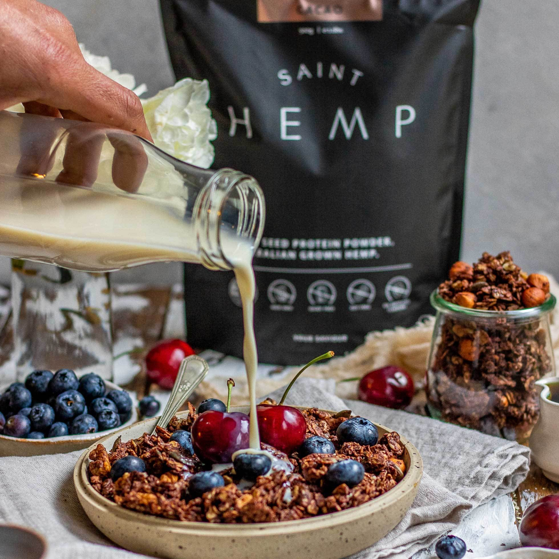 Chocolate Hemp Protein Granola
