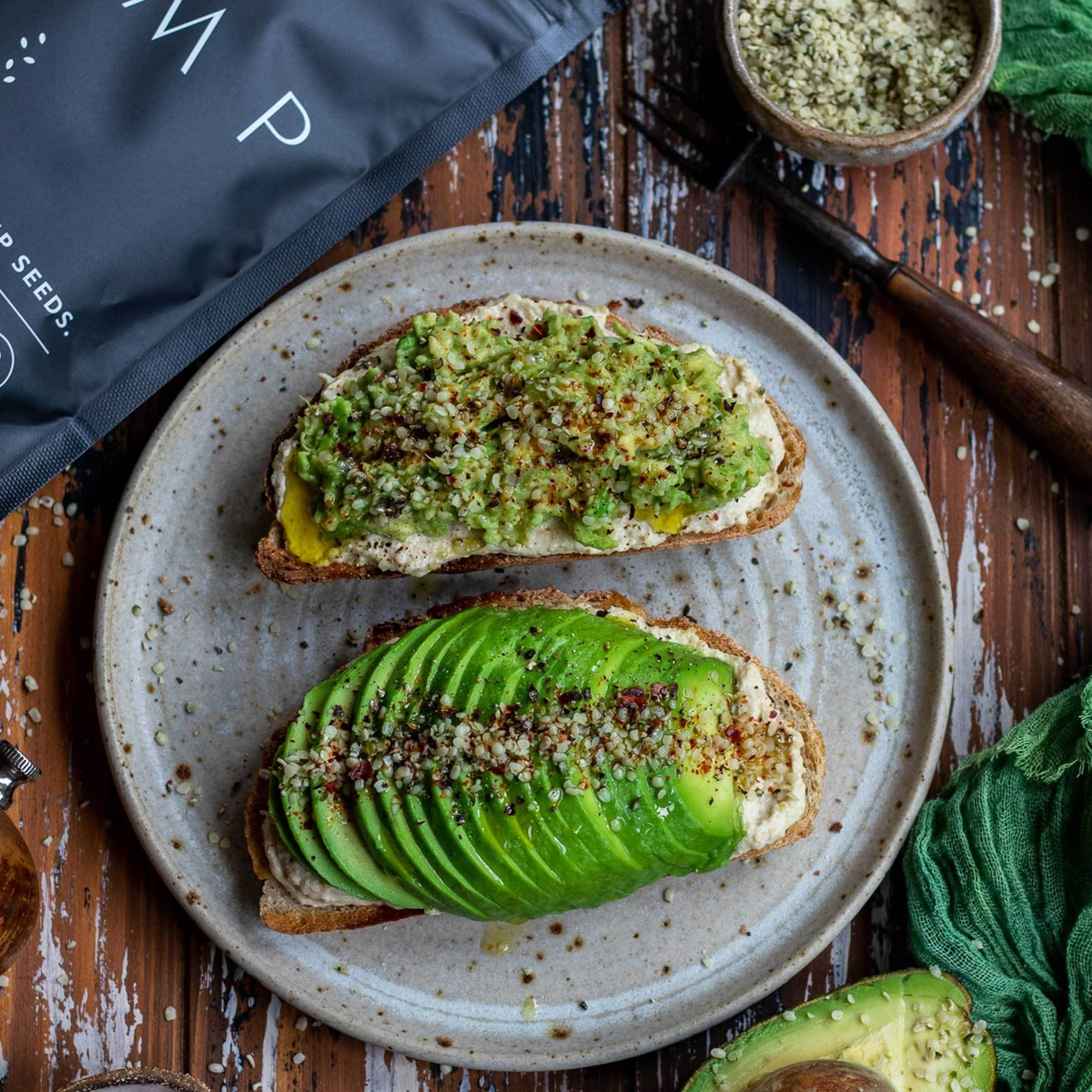 Hemp Seed Avocado Toast
