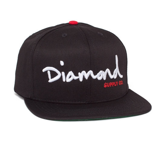 fab3fcc20a Diamond Supply co Snap back (Black white red)