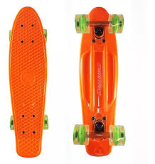 Grand Gopher Pen Skate Cruiser Orange Green Wheels