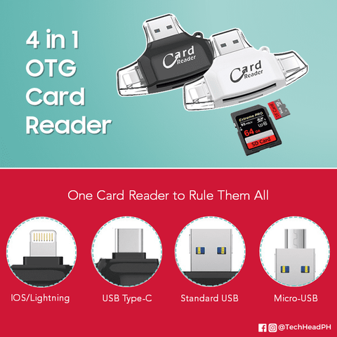 4 in 1 OTG Card Reader Techhead