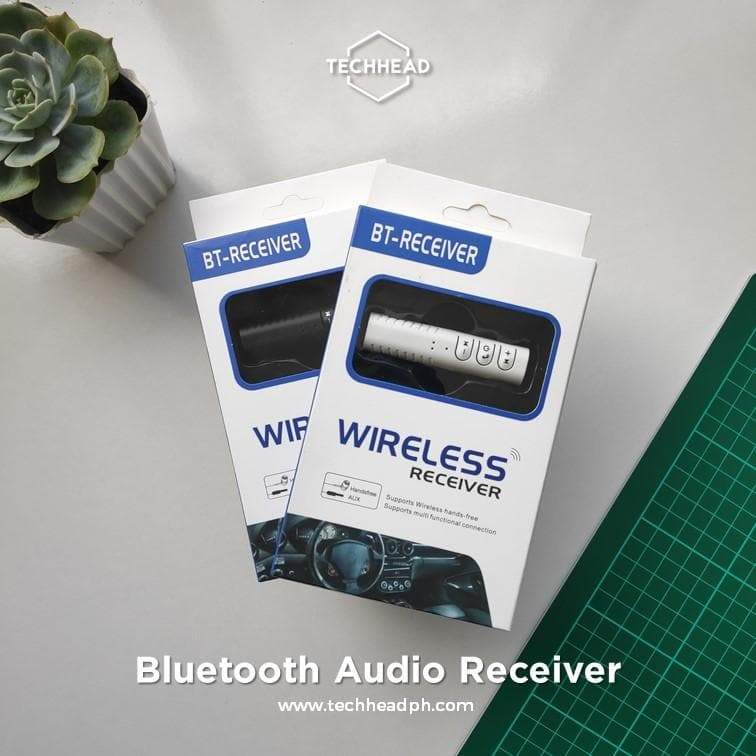 TechHeadPH Bluetooth Adapter Black Bluetooth Audio Receiver (Recommended)
