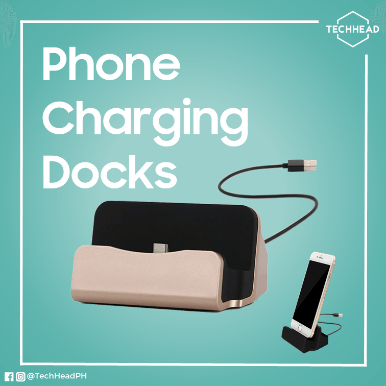 TechHeadPH Charging Dock Lightning for iPhone / Matte Black Phone Charging Dock (iPhone/Micro-USB/USB Type C)