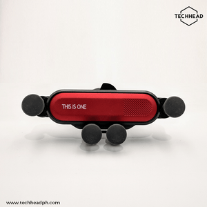 TechHeadPH Red Gravity Car Phone Holder