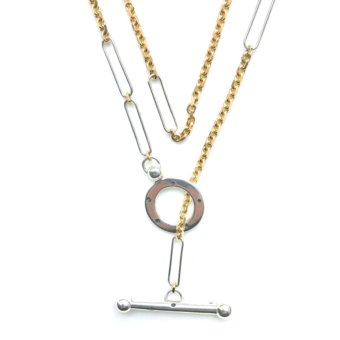 KEPLER 3-WAY 18K AND STERLING SILVER CHAIN