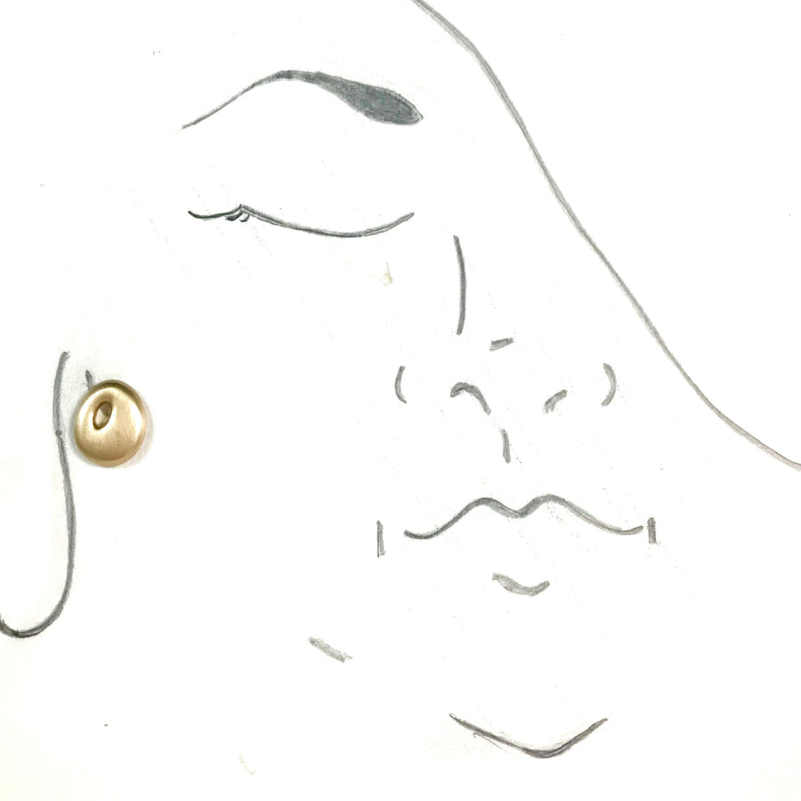 "14K BIG ""O""  EARRINGS"