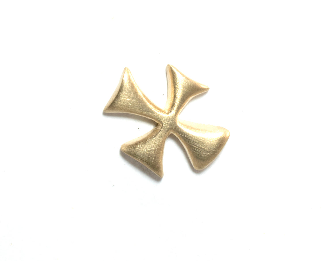 "14K LITTLE ""X"" MAP MARKER CROSS EARRING"
