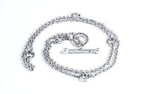SATURN 3-WAY LARGE TOGGLE SILVER CHAIN