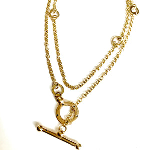 "34.5"" SATURN 3-WAY 14K LARGE TOGGLE CHAIN"