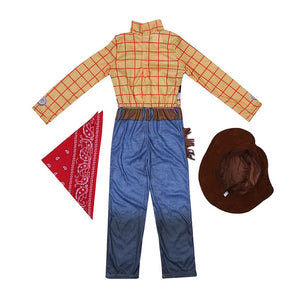 Woody Costumes Kids Deluxe Children Fancy Dress Halloween Costume for Kids Woody Role Play Cowboy Costume Suit - Toyopia