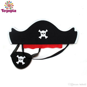 Custom Pirate Costume For Kids Eye Patch EVA Knife Toy Halloween Costume Fancy Dress Children Pirate Boys Gift - Toyopia