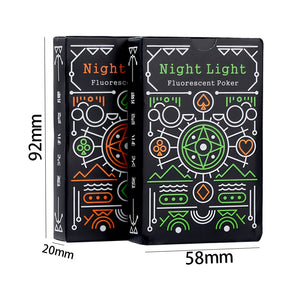 Luminous Poker Glow In The Dark Novelty Fluorescent Playing Cards New Random Color! Bar Game Collectibles - Toyopia