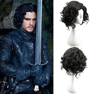 Game of Thrones Jon Snow Cosplay Wig  Medieval Knight King Fancy Dress - Toyopia
