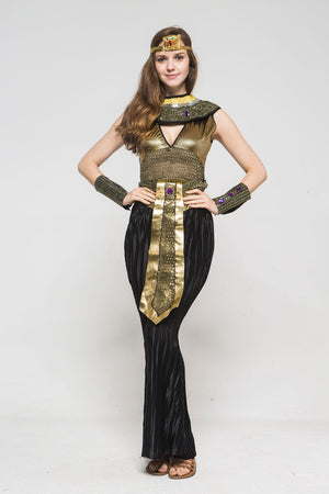 Egyptian Pharaoh Cleopatra Costume Cosplay for Women Men Boys Girls Halloween Party Fancy Dress - Toyopia