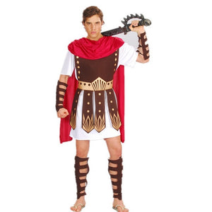 Ancient Roman Greek Warrior Gladiator Costume Knight Julius Caesar Costumes for Men Women Couple - Toyopia