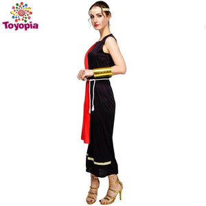 Women's&Men's  Caesar Toga Costume Fancy Dress Halloween Party  Costume Prince Caesar Costume - Toyopia
