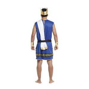 Men Medieval King Costume  Halloween Carnival Arab King Performance Fancy Dress Up Outfit - Toyopia