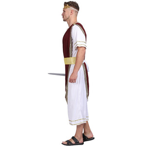 Halloween Emperor Of Rome Caesar Cosplay Men Fantasia Carnival Roman Costume Cosplay Fancy Party Dress Up Suit - Toyopia