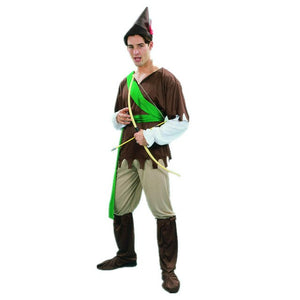 Medieval Archer Hunter Robin Hood Costume for Women Men Family Halloween Purim Carnival Party Costumes - Toyopia