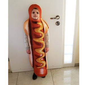 3D Print Sausage Cosplay Hot Dog Costumes Child Cartoon Halloween costume for Kids Food Carnival boy Fancy Dress - Toyopia