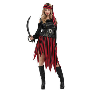 High Seas Buccaneer Pirate Costume for Men Women Couple Party Mardi Gras Fancy Dress - Toyopia