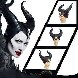 Horns Hat Maleficent: Mistress of Evil Maleficent Costume Horns Black Helmet - Toyopia