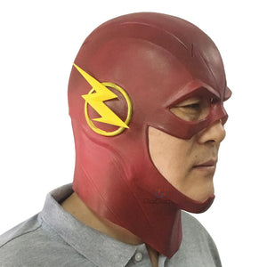 The Flash Mask  DC Movie Cosplay Costume Halloween Full Head Realistic Latex Party Masks - Toyopia