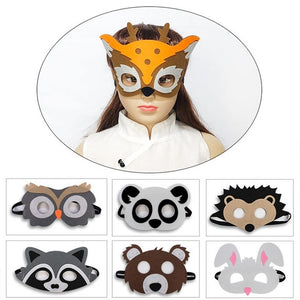 Animal Masks Jungle Kids Party Rabbit Mask  Favor Animal Theme School Plays Christmas Gifts Child Mask Cosplay(7 pack)