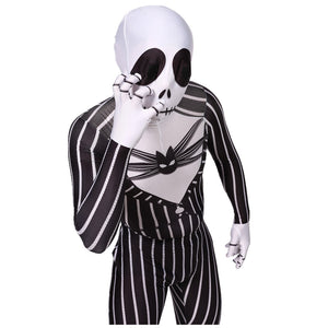 The Nightmare Before Christmas Cosplay Jack Skellington Costume Vintage Black Stripe Zentai Party Halloween Dress Unisex - Toyopia