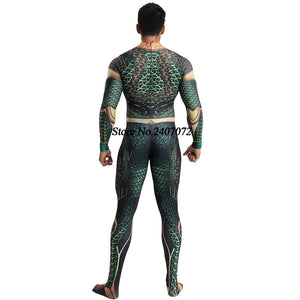 Halloween Saints' All Hallows' Day anime DC comic Aquaman Cosplay Zentai Costume - Toyopia