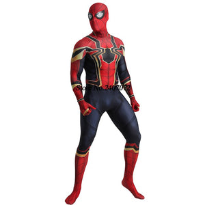 Avengers: Endgame Black Spiderman homecoming Cosplay Costume Zentai Iron Spider Man Superhero - Toyopia