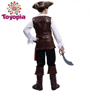 Boy Pirate Halloween Costume Cosplay Kid Deluxe Pirate Clothes for Carnival Party Costumes - Toyopia