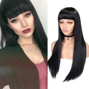 Wignee  Black and White Wavy Mix Synthetic Wigs for Women Long Straight Hair Yin and Yang Halloween Cosplay  Party Costume hair - Toyopia