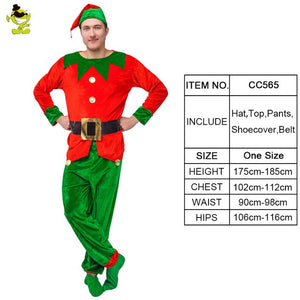 Christmas  Couple's Elf Clothes Costume Role Play Carnival Party Costume Men Women Cosplay Green Elf  Christmas Costumes - Toyopia