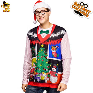 Santa Claus T-shirt 3D Printed Image of Santa Claus costume Christmas Carnival Party Men's T-Shirt - Toyopia
