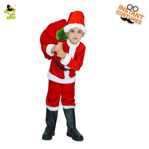 Santa Claus Costume Kids Christmas Cute Santa Cosplay Costume Christmas Party Stage Performance Costume for Kids - Toyopia