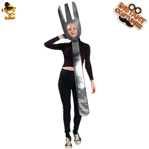 Unisex Spoon &Soup Tunic Costume Performance Sliver Spoon Carnival&Christmas matching couple - Toyopia