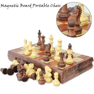 4 Size Magnetic Board Tournament Travel Portable Chess Set New Chess Folded Board International Magnetic Chess Set playing Gift - Toyopia