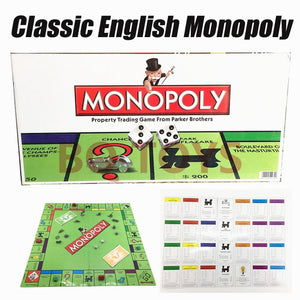 Classic Board Game English French Russian Arabic Spanish Monopoly Game Board Card Party Game Kids Toy Gift - Toyopia