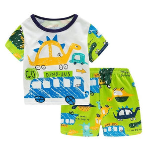 New Summer Cute Girl Princess Pajamas For Girls Boys Cotton Pyjamas - Toyopia