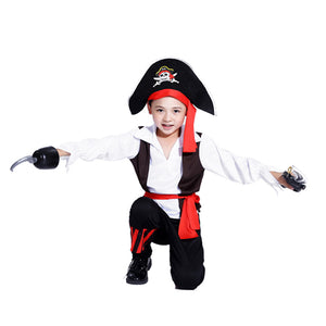 Pirates of the Caribbean Halloween costume for children Pirate Captain Cosplay domineering boy pirate costume - Toyopia