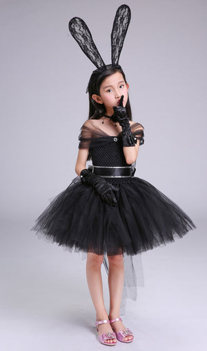Black Handmade Girl Dress - Toyopia