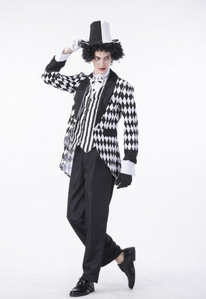 Magician Costumes Men Mad Hatter Costume Women Circus Clown Cosplay Fancy Dress Jumpsuit Couple - Toyopia